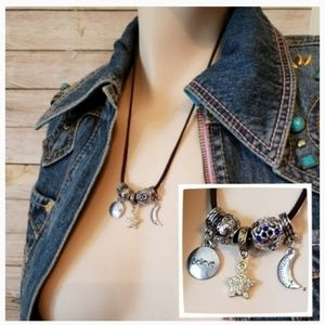 Dreamer Suede Charm Necklace